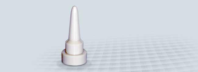 Ventilkegel aus Hochleistungskeramik ZrO2 Mg-PSZ