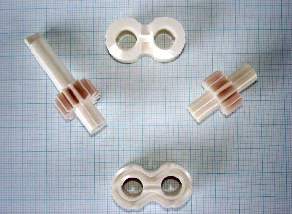 Zahnradpumpen aus Hochleistungskeramik Baugruppe demontiert